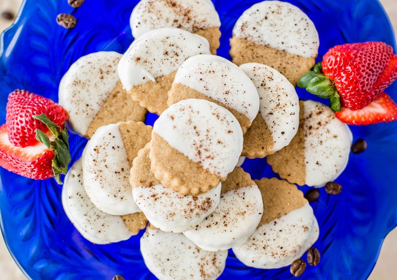 Java Sweets Coffee Flavored Cookies Cappuccino Shortbread